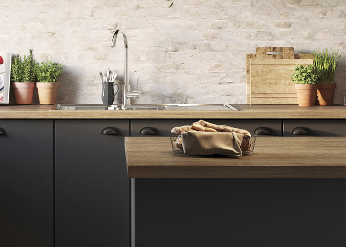 Mixed Materials And Contrast Kaboodle Kitchen