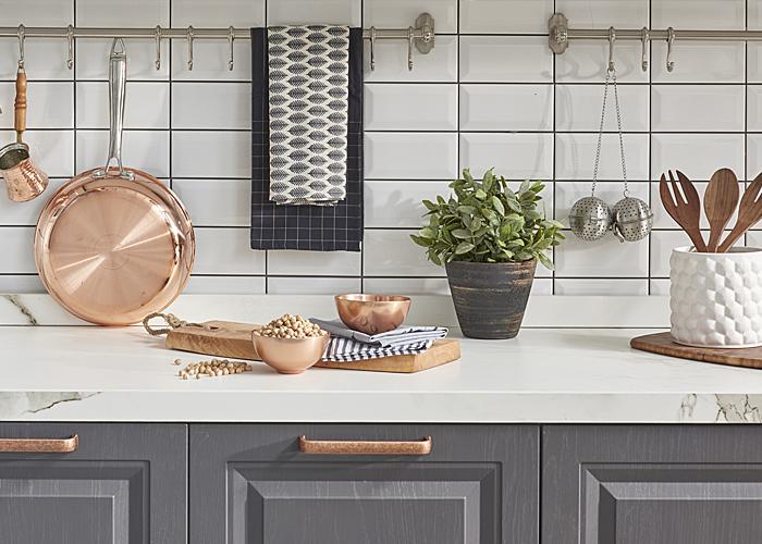 kitchen accessories succulent plant and utensils