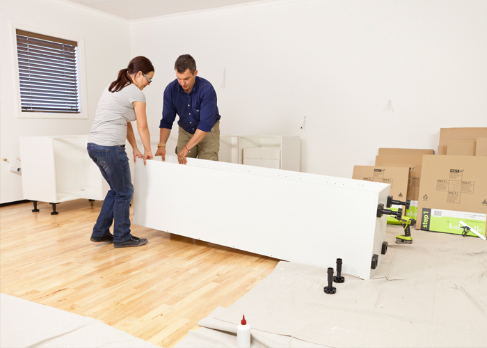 flat pack kitchen project management - keeping a safe working area in your kitchen